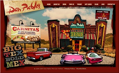 Don Pablos Restaraunt Website
