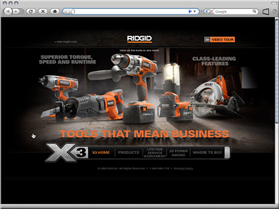 Rigid x3 Microsite