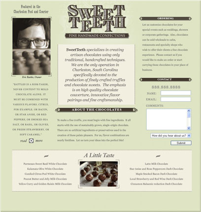 Sweet Teeth Website